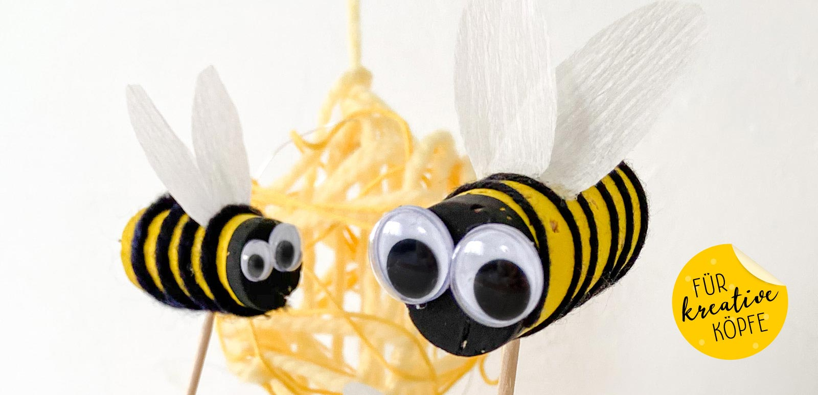 Wir basteln Bienen