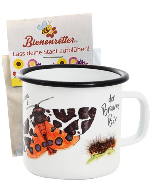 Aktion Emaille-Tasse mit Blumensamen